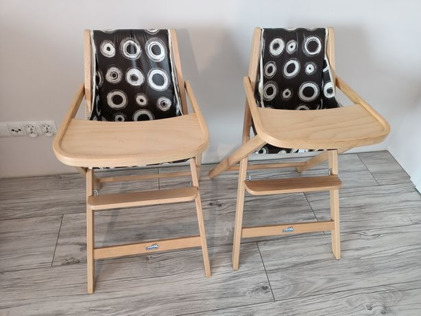 Drewniane krzesełko do karmienia firmy Geuther