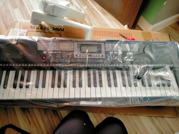 Keyboard MK-2115 Organy, 61 Klawiszy, Zasilacz, Podświetlane Klawisze