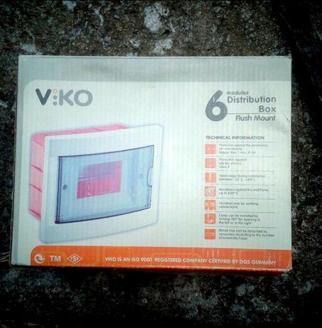 Щиток на 6 автоматов скрытая проводка Viko