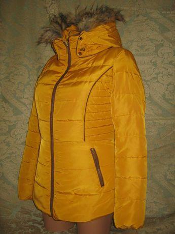 New Look теплая зимняя красивая куртка парка пуховик курточка женская