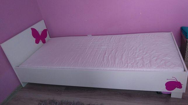 Łóżko białe z materacem