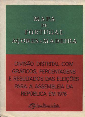 Mapa Resultados das Eleições de 1975 para a Assembleia da República