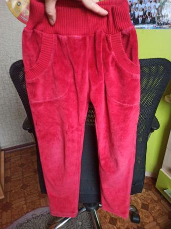 Велюровые штанишки на 5-6 лет
