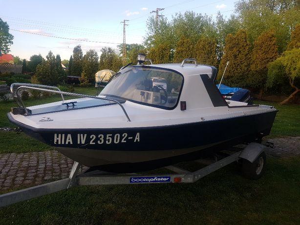 łódź motorowa łódka kabinowa 4,5m