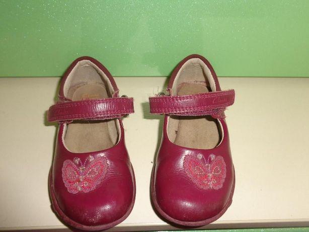 Туфли Clarks мигающие. Размер - 6,5 (23), стелька- 15см