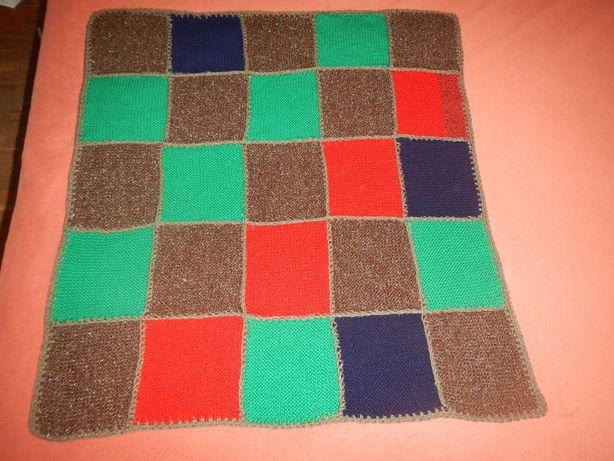 детский плед ручной работы 78см х 72см покрывало одеяло