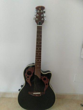 Guitarra Semi-Acustica Clarissa estilo Ovation Deluxe