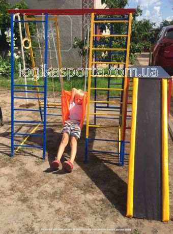 Площадка для дома и двора, горка, качели, детский спортивный комплекс