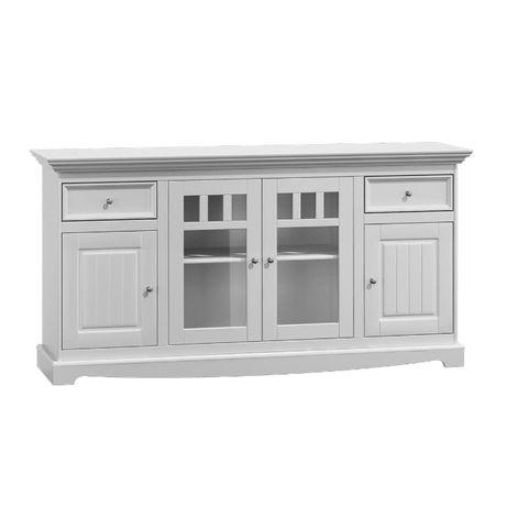 Komoda drewniana 4 drzwiowa . Blat biały, dąb lub orzech . sklep Wawa