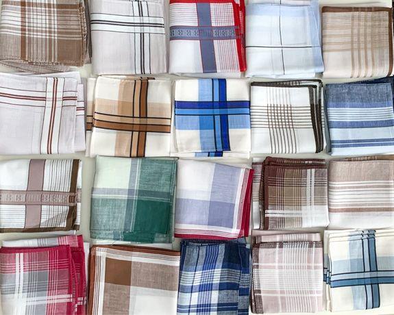 Носовые платки мужские 100% хлопок новые, платочки, хустинки