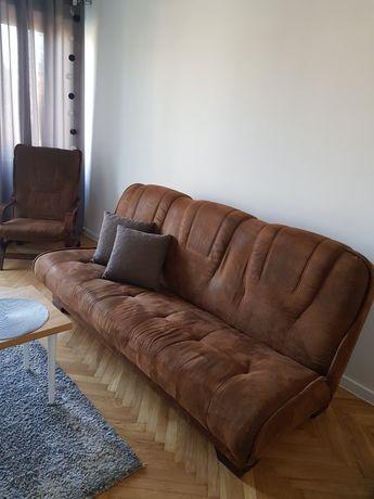 Kanapa rozkładana + 2 fotele