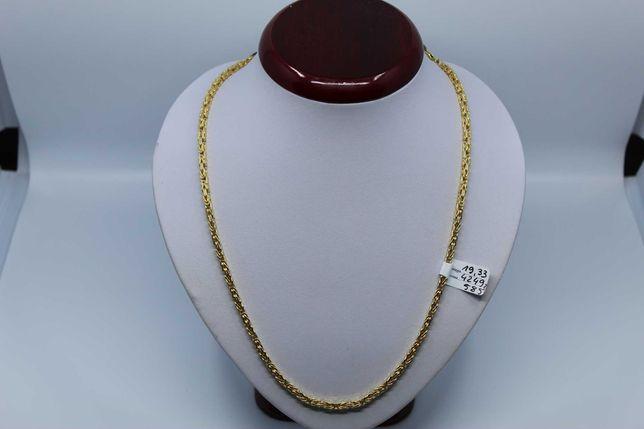 Złoto/Złoty łańcuszek męski 585 14K 19,33 gram Splot Królewski Nowe