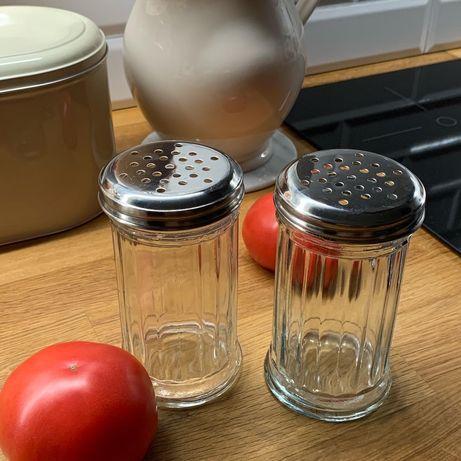 Zara home szklana solniczka i pieprzniczka nowy zestaw