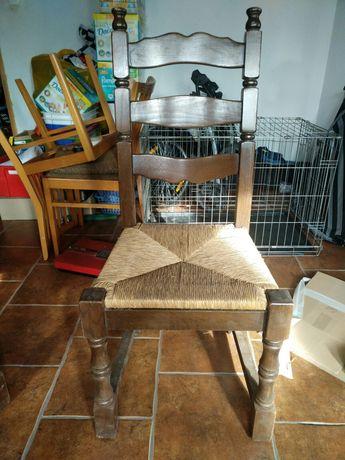Krzesła bębowe,drewniane