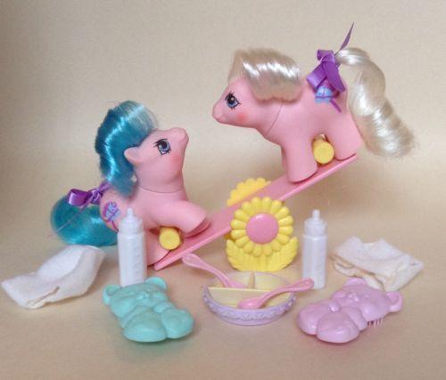 My Little Pony G1 Baby Newborn Twins Sticky & Sniffles MLP Kucyk Kucyk
