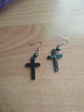 Серьги-кресты из гематита