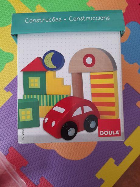 Brinquedo madeira construções Goula