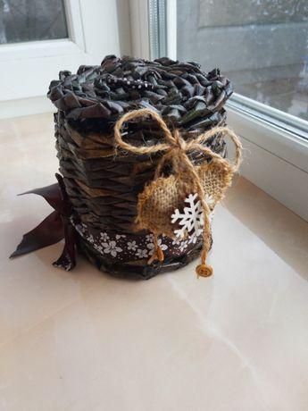 Плетённая корзинка (хендмейд)