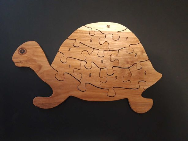 Детский развивающий пазл-сортер «Черепаха».
