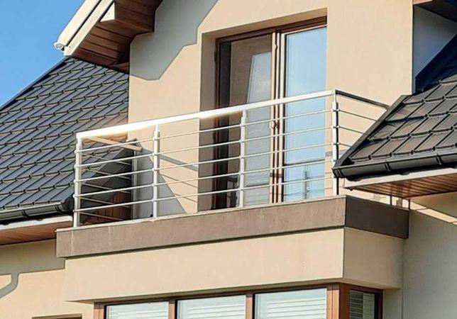 Balustrady ze stali nierdzewnej, balkony, balustrady schodowe