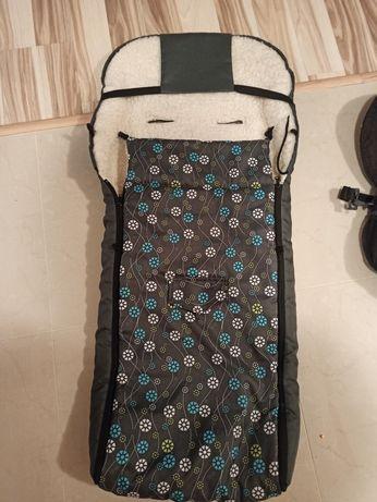Śpiworek wełniany, ocieplacz do wózka, sanek + torba gratis