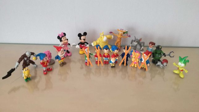 Bonecos PVC Noddy, Disney, Super Mario, Power Rangers e outros
