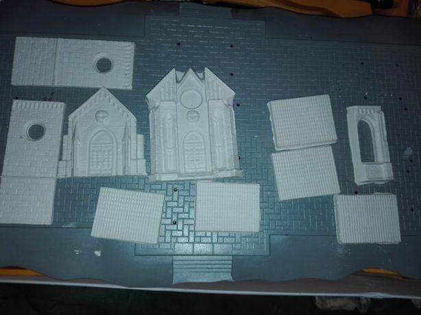 Gipsowe odlewy kościoła - modelarstwo