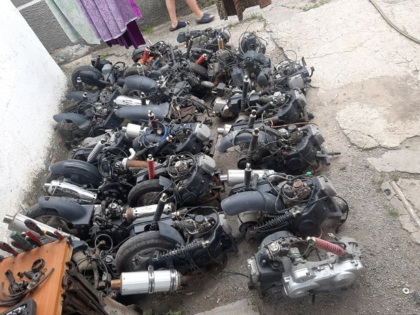 двигателя на скутер/50/80/125/150 кубов исправные в сборе/наложка