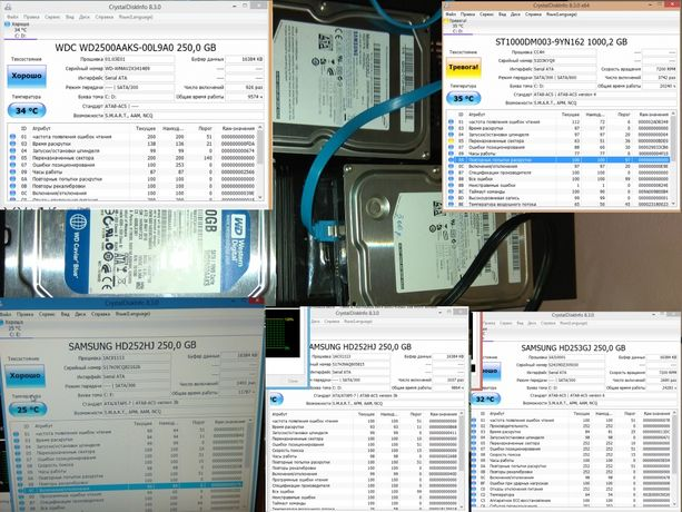 Жёсткий диск винчестер 250 Гб gb Samsung WD sata 3.5 Западный
