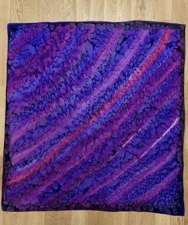 Лёгкий шёлковый платок шаль палантин шарф