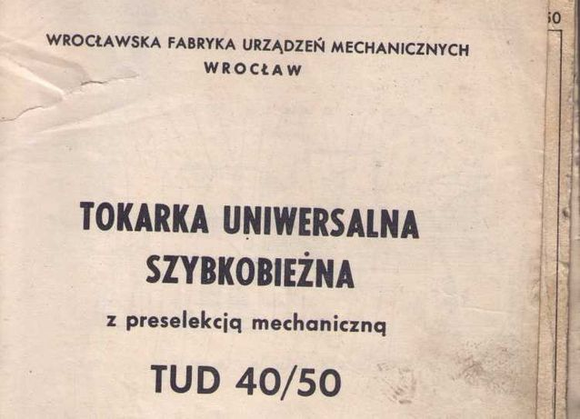Tokarka TUD 40/50 DTR