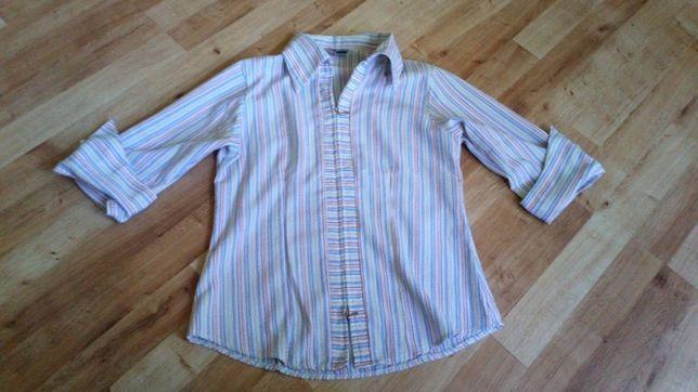 Koszula bluzka rękaw 3/4 paski roz 40/42