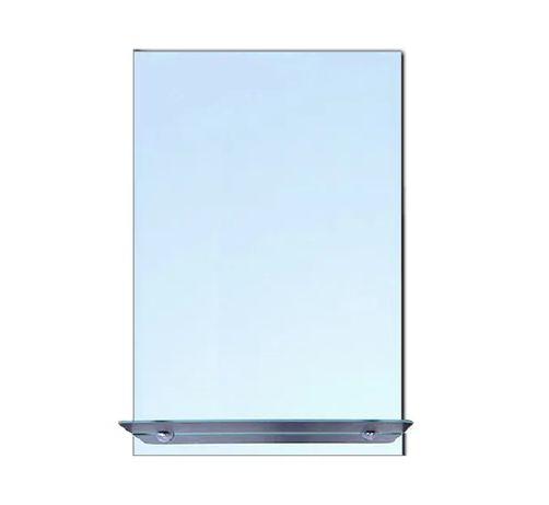 Новое зеркало с полочкой в ванную комнату, 68 х 40 см. Реальная цена!