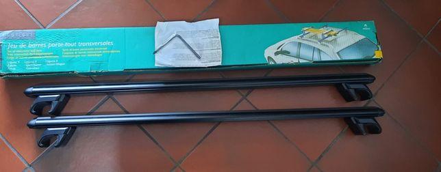 Barra tejadilho ajustável para transporte de objetos original da marca