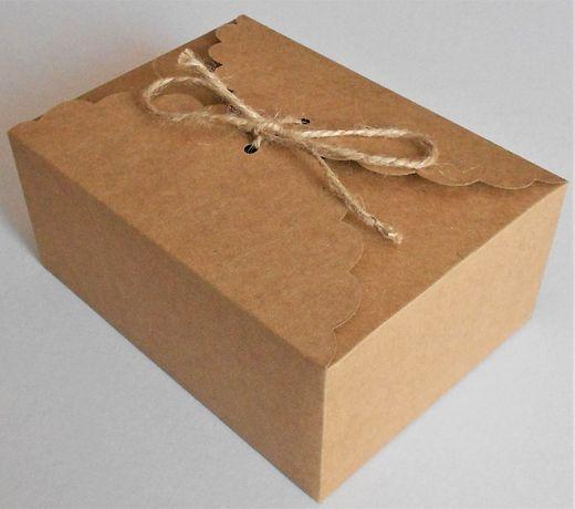 Pudełko pudełka pojemnik na ciasto weselne ślubne w stylu EKO