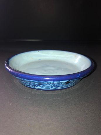Prato de vaso em faiança antigo