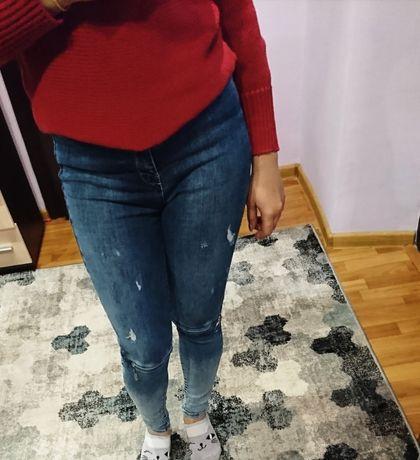 Крутые джинсы узкачи 27 размер (М) недорого. Высокая посадка