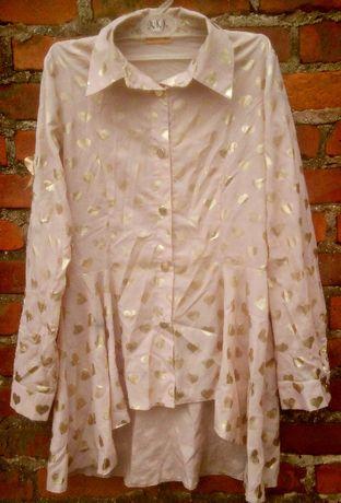Asymetryczna koszuowa bluzka ,serduszka