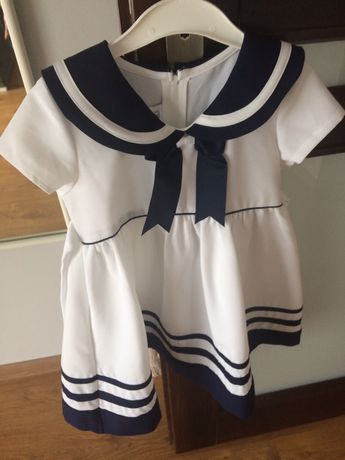 Śliczna marynarska sukienka
