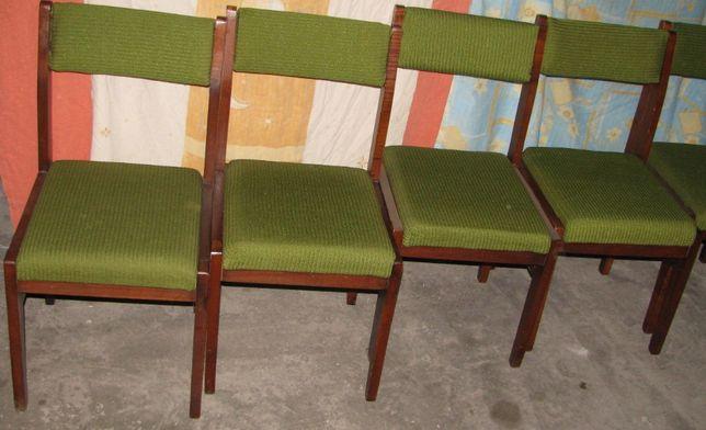 Krzesło krzesła meble stary model typ retro prl 6 sztuk