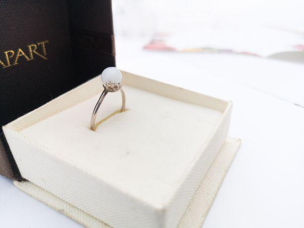 Antyczny z Perełką - srebrny pierścionek