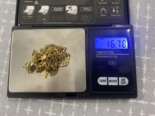 Galibardi łańcuszek z krzyżykiem złoto 585