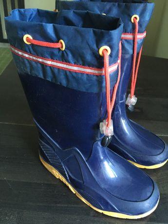 Дитячі утеплені резинові чобітки 30 розмір