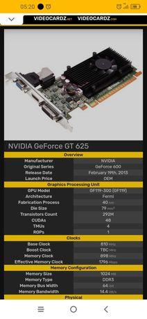 Placa gráfica Nvidea GT 625 2Gb