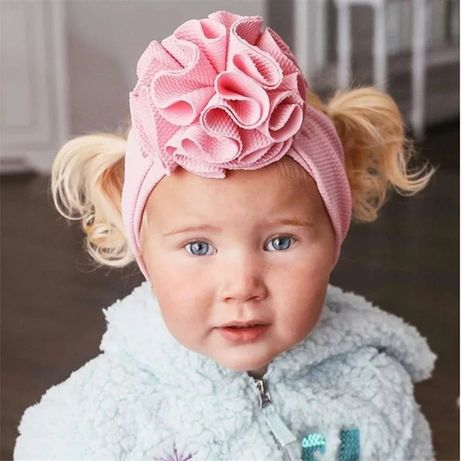 Сиреневая повязка на голову для девочки бант бантик