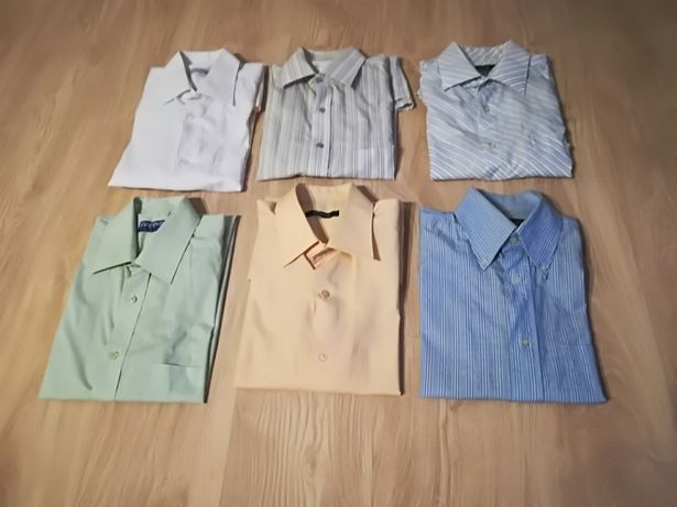 Koszule męskie krótki rękaw rozm. M/L