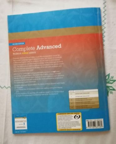 Complete Advanced, SB+WB, оригинал, не копия!