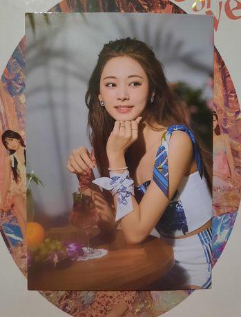karta Tzuyu Twice Taste of Love Alcohol Free kpop message card