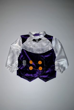 Рубашка кофта карнавальная на мальчика 1,5-2 года Хеллоуин фиолетовый