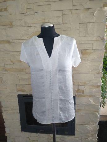 Satynowa biała bluzka